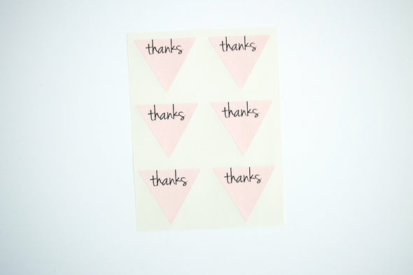 Thanks Triangle Labels Favor Seals - Once Upon Supplies - 4