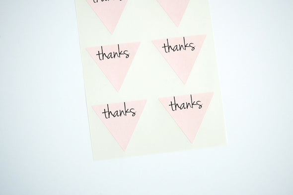 Thanks Triangle Labels Favor Seals - Once Upon Supplies - 5