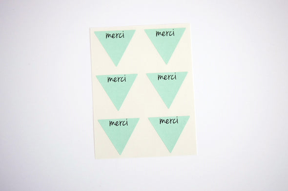 Rustic Kraft Brown Merci Stickers - Once Upon Supplies - 5