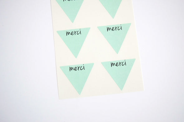 Rustic Kraft Brown Merci Stickers - Once Upon Supplies - 4