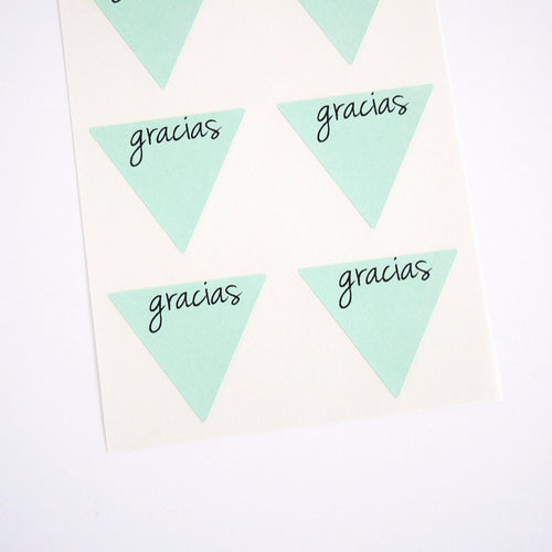 Gracias Triangle Stickers Labels - Once Upon Supplies - 1