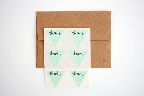 Thanks Triangle Labels Favor Seals - Once Upon Supplies - 3