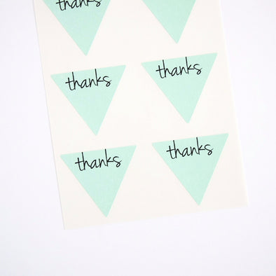 Thanks Triangle Labels Favor Seals - Once Upon Supplies - 1