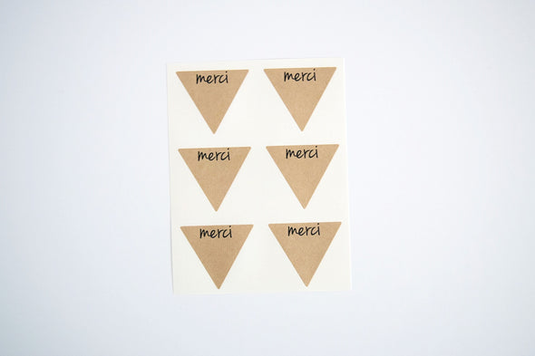Rustic Kraft Brown Merci Stickers - Once Upon Supplies - 2