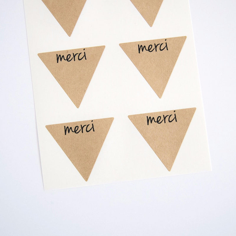 Rustic Kraft Brown Merci Stickers - Once Upon Supplies - 1