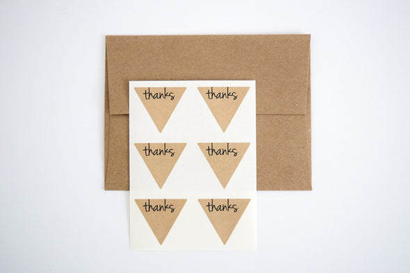 Thanks Triangle Labels Favor Seals - Once Upon Supplies - 7