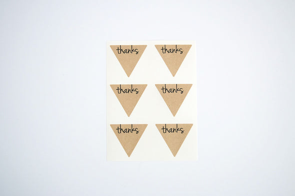 Thanks Triangle Labels Favor Seals - Once Upon Supplies - 9