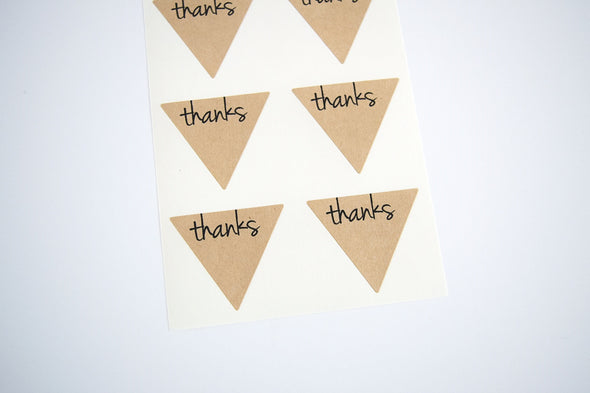 Thanks Triangle Labels Favor Seals - Once Upon Supplies - 8