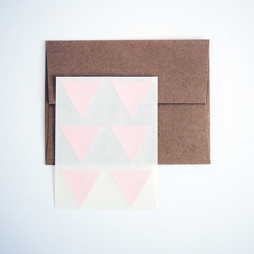 Blush Pink Triangle Stickers. Triangle Labels. Package Seals. Gift Labels. - Once Upon Supplies