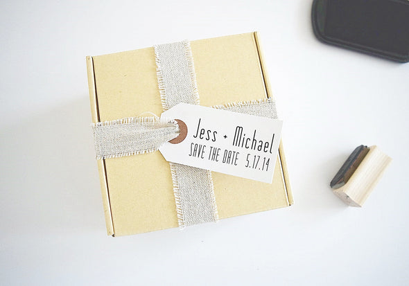 Wedding Custom Stamp - Save the Date
