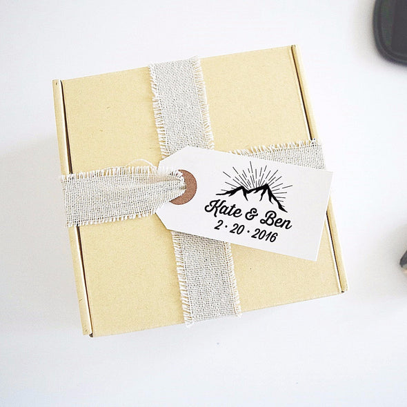 Mountain Wedding Stamp - Save the Date Stamp
