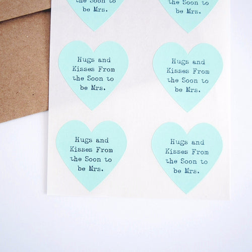 Hugs and Kisses from the Soon to be Mr and Mrs Heart Stickers - Once Upon Supplies - 1