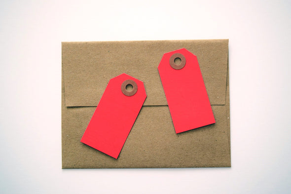 Red Small Gift Tags / Hang Tags Pack of 50 - Once Upon Supplies - 3