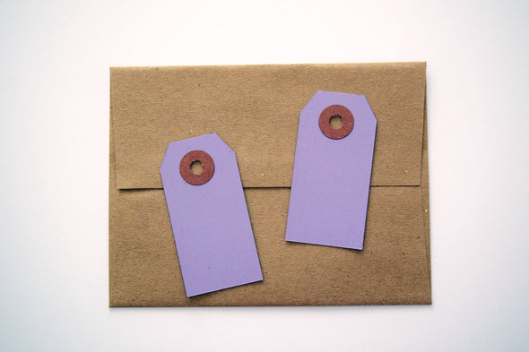 Purple Lavender Small Gift Tags / Hang Tags Pack of 50 - Once Upon Supplies - 3