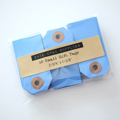 Blue Small Shipping Tags / Gift Tags - Once Upon Supplies - 1
