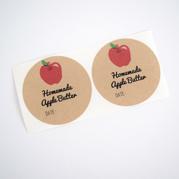 Apple Butter Round Mason Jar Labels - Once Upon Supplies - 2