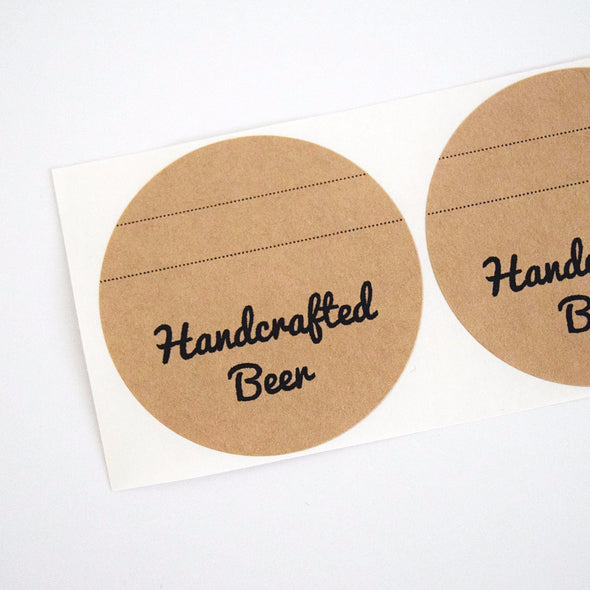 Kraft Brown Beer Bottles Labels