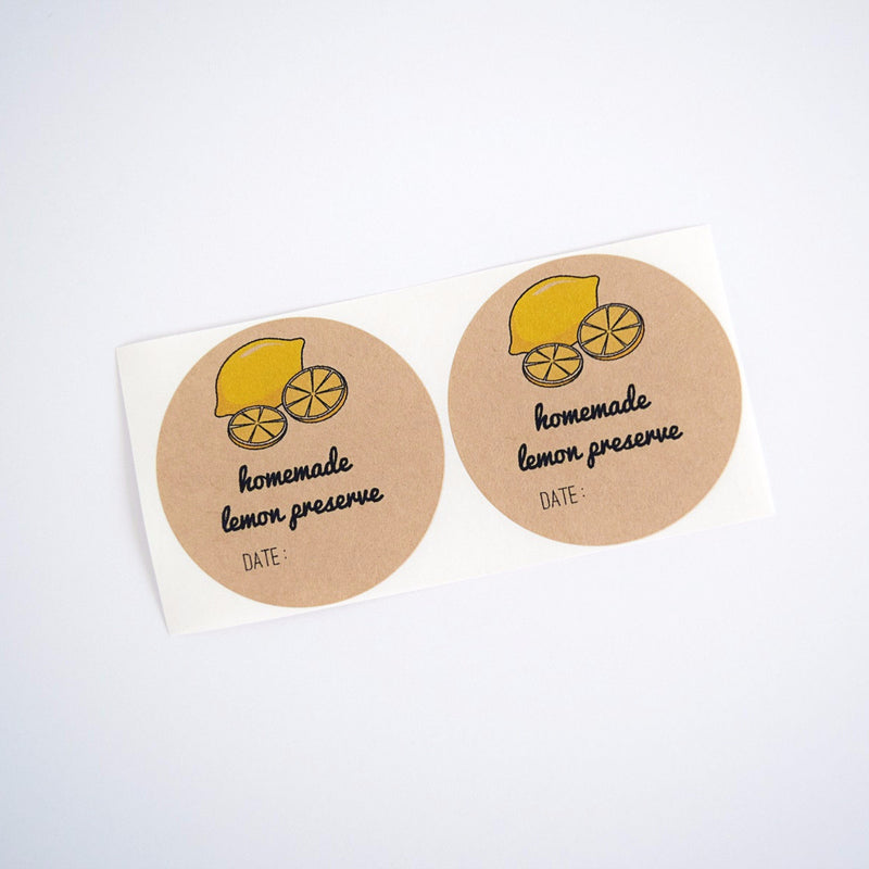 Lemon Labels / Lemon Jar Labels