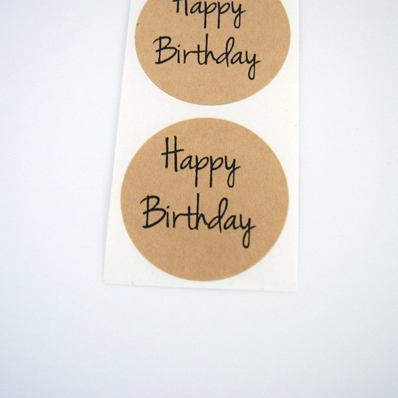 Happy Birthday Round Stickers - Once Upon Supplies - 1