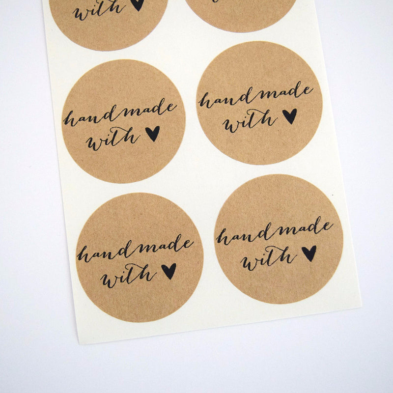 Handmade with Love Stickers Calligraphy Font - Once Upon Supplies - 1