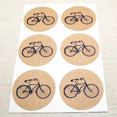 Vintage Bicycle Stickers - Once Upon Supplies