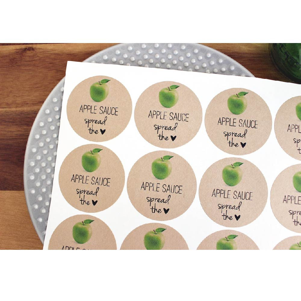 apple sauce mason jar labels