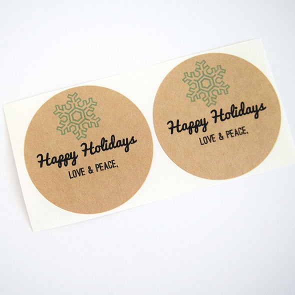 Snowflake Mason Jar Labels Holiday Gifts Labels - Once Upon Supplies - 3