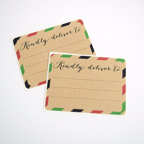 Red and Green Stripes Christmas Gift Labels / Kindly Deliver To - Once Upon Supplies - 3