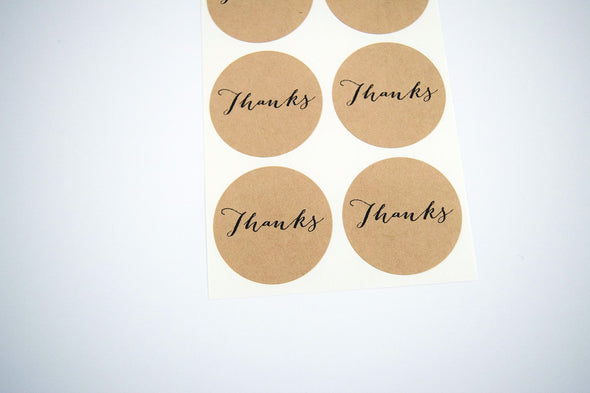 Thanks Round Stickers - Once Upon Supplies - 3