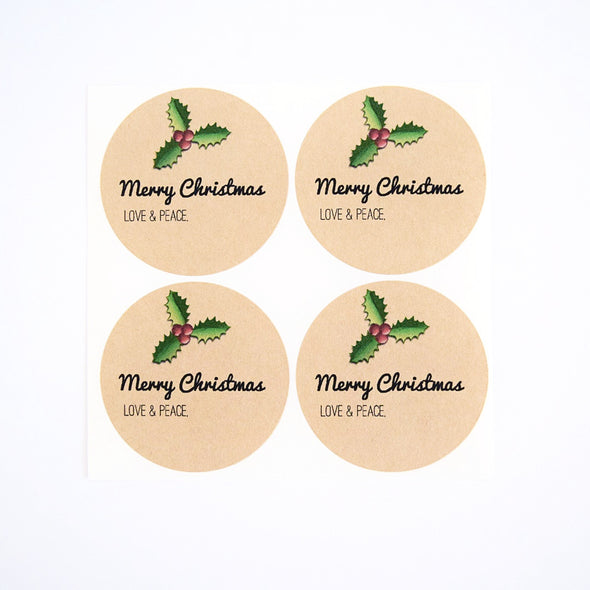 Christmas Holly Jar Labels / Merry Christmas Canning Labels - Once Upon Supplies - 2