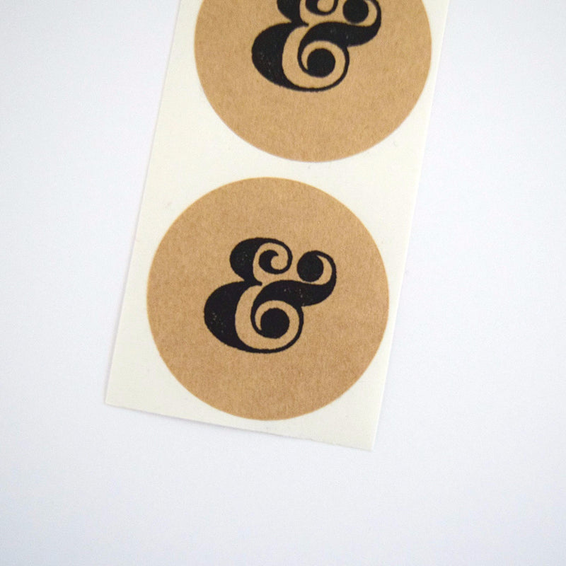 Retro Ampersand Round Stickers - Once Upon Supplies - 1