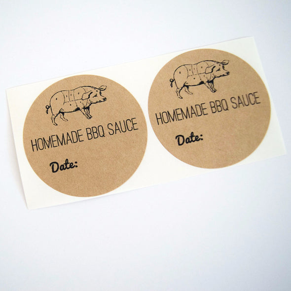 Homemade BBQ Sauce Jar Labels - Once Upon Supplies - 3