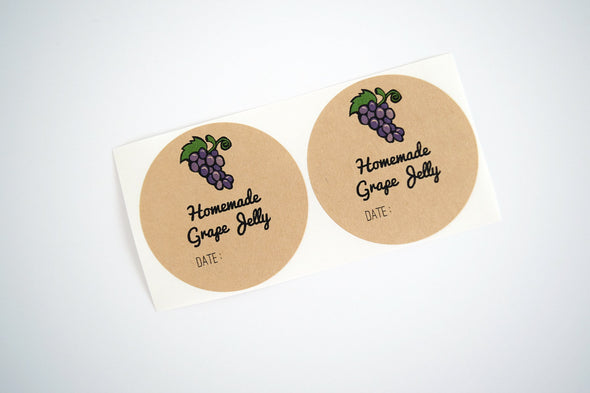 Jam Labels - Grape Jelly Labels