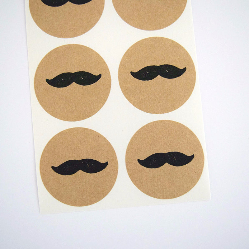 Retro Mustache Stickers - Once Upon Supplies - 1
