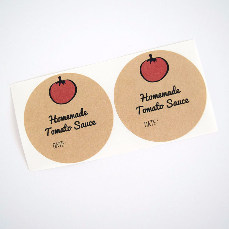 Tomato Sauce / Pasta Sauce Round Mason Jar Labels - Once Upon Supplies - 1