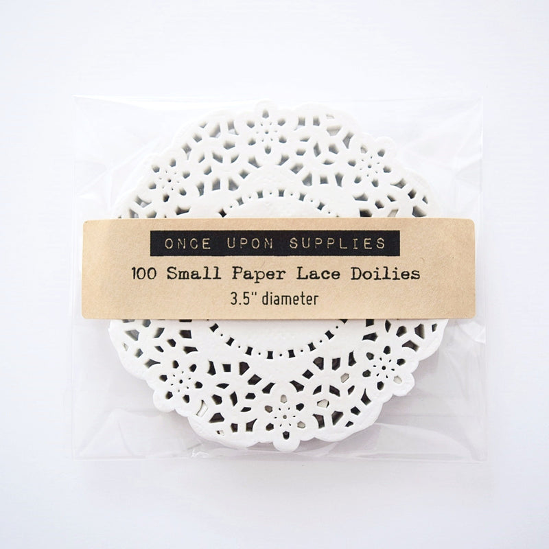 Small Paper Lace Doilies - Once Upon Supplies - 1