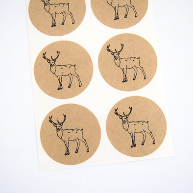 Woodland Stag Stickers - Once Upon Supplies - 1