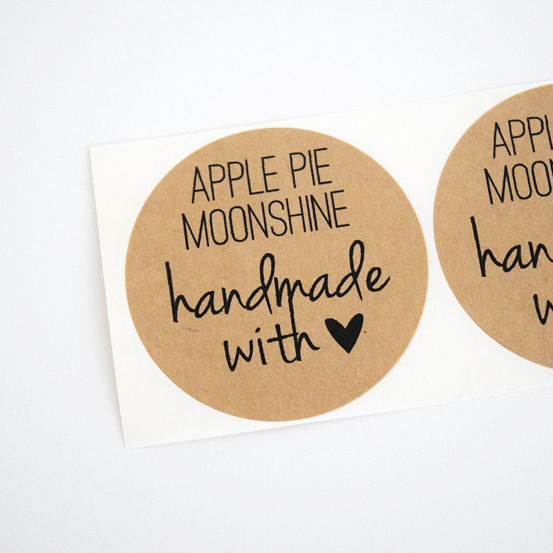 apple pie moonshine labels - moonshine stickers | Once Upon Supplies