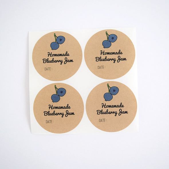 Blueberry Jam Labels - Mason Jar Gifts