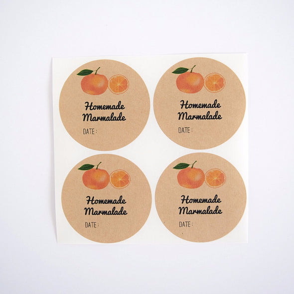 orange marmalade labels
