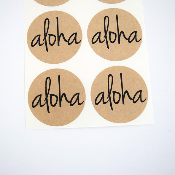 Aloha Kraft Round Stickers - Once Upon Supplies - 2