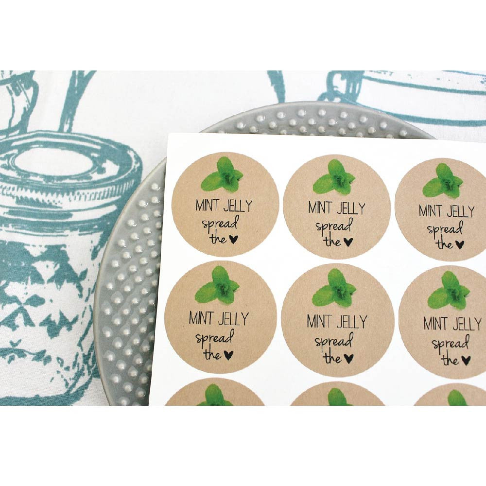 Spread The Love Labels for Mason Jars Canning Jars 2.5 Inches by Once Upon Supplies Jam and Jelly Labels Set of 36 Labels