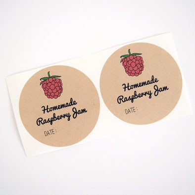 Homemade Raspberry Jam Labels