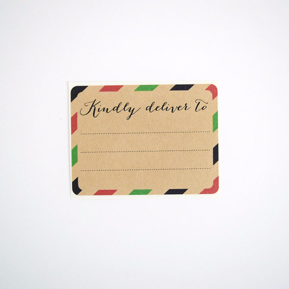 Red and Green Stripes Christmas Gift Labels / Kindly Deliver To - Once Upon Supplies - 1