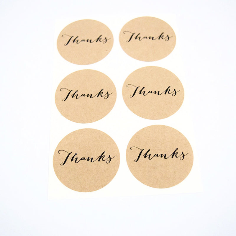 Thanks Round Stickers - Once Upon Supplies - 1