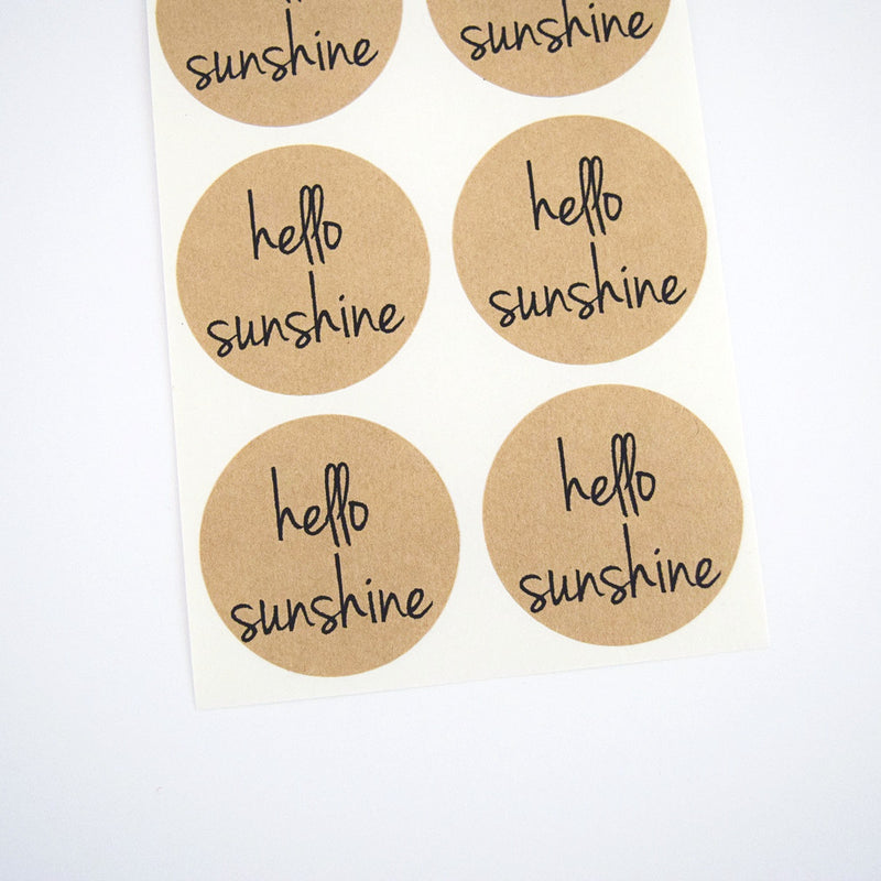 Hello Sunshine Stickers - Once Upon Supplies