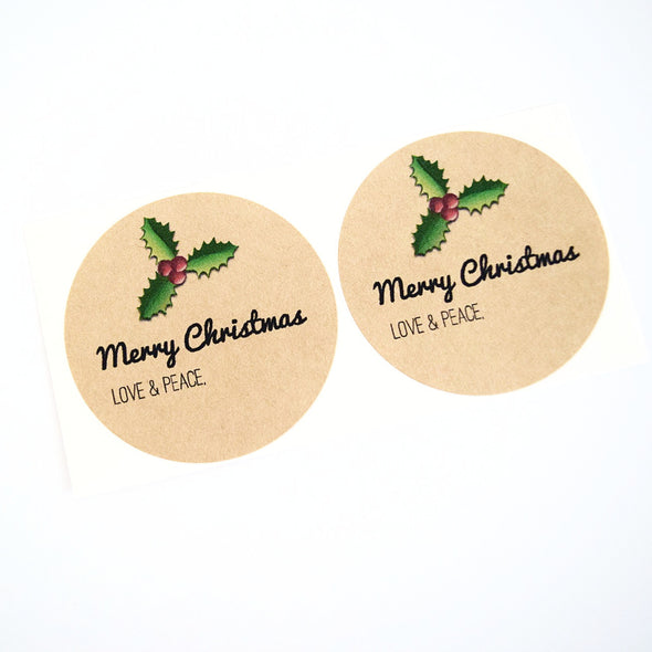 Christmas Holly Jar Labels / Merry Christmas Canning Labels - Once Upon Supplies - 3