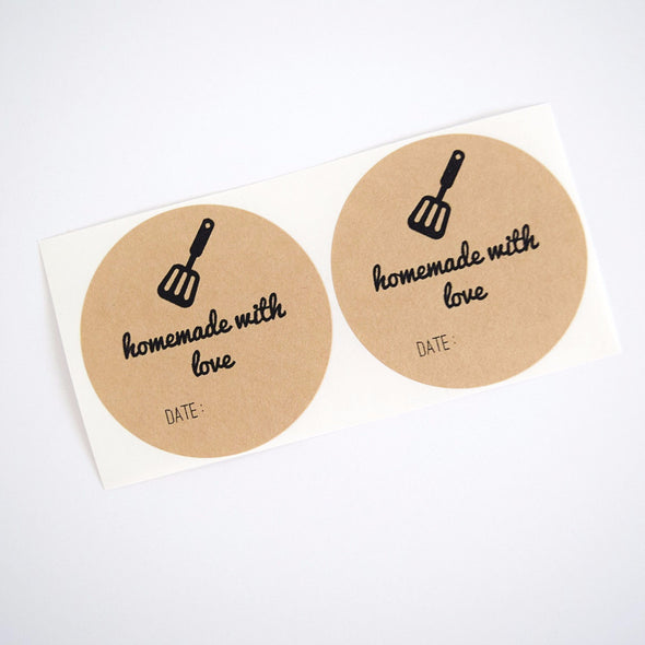 Homemade with Love Spatula Mason Jar Labels - Once Upon Supplies - 1