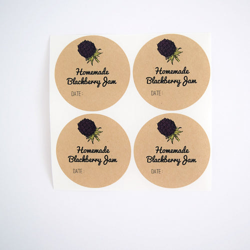 Blackberry Jam Labels - Mason Jar Labels