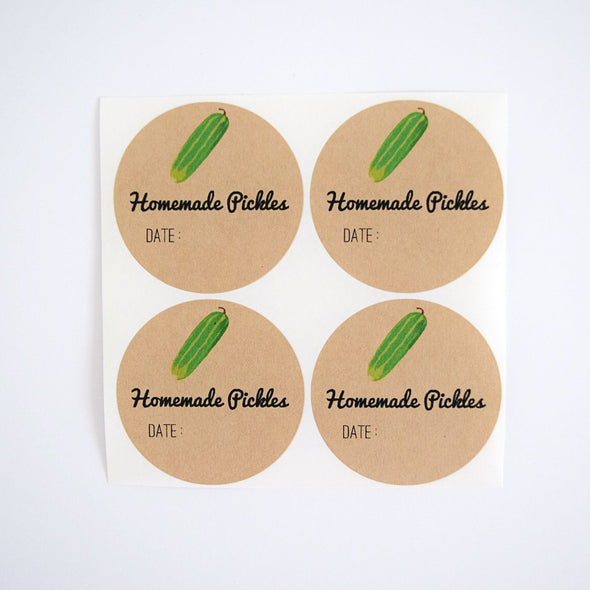 Homemade Pickles Mason Jar Labels - Once Upon Supplies - 1